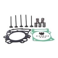 Motorcycle Cylinder Gasket Intake Exhaust Valve Kit For Yamaha Raptor 660R YFM660R 4X4 04
