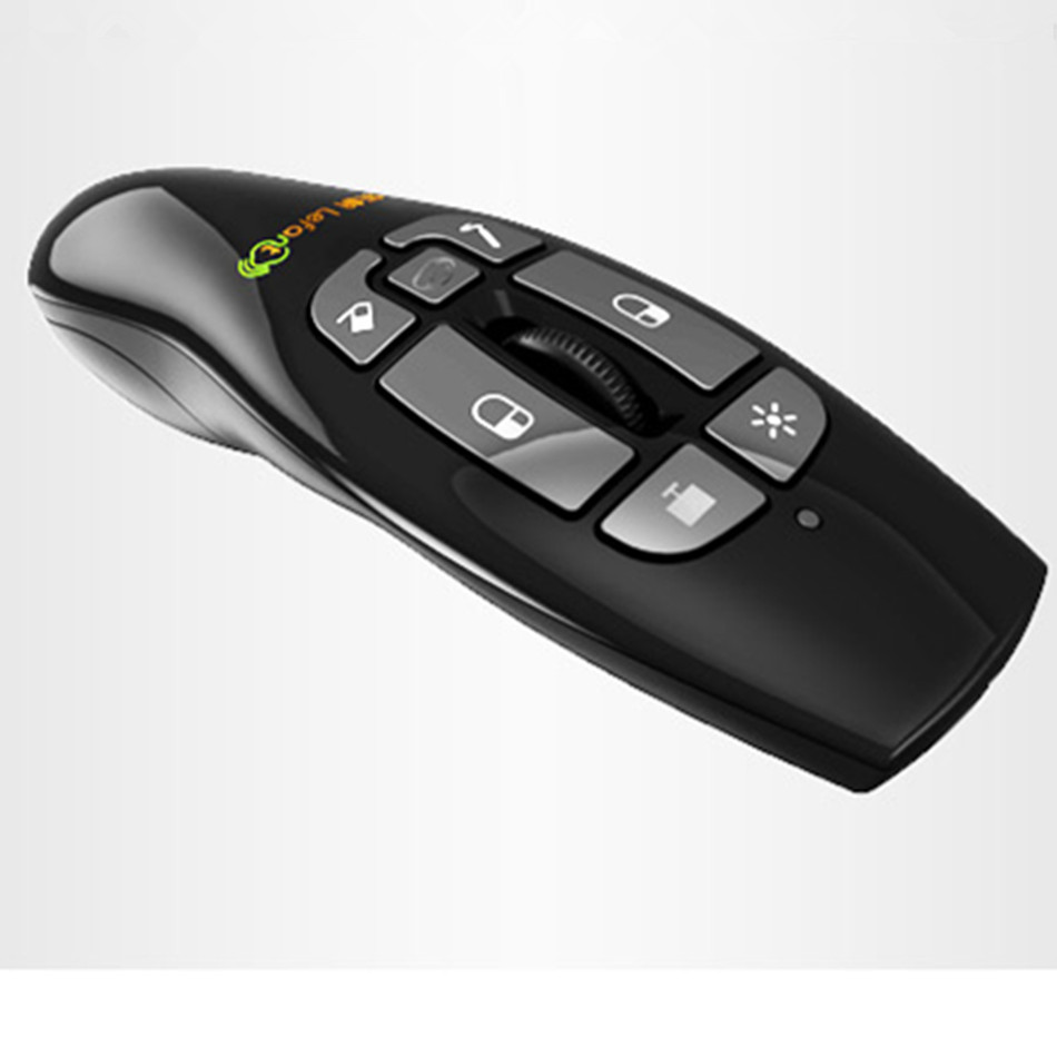 F8 2.4GHz Wireless Presenter With Red Laser For PowerPointer Presentation Remote Control Air Flying Mouse air swimmers helium remote control flying shark