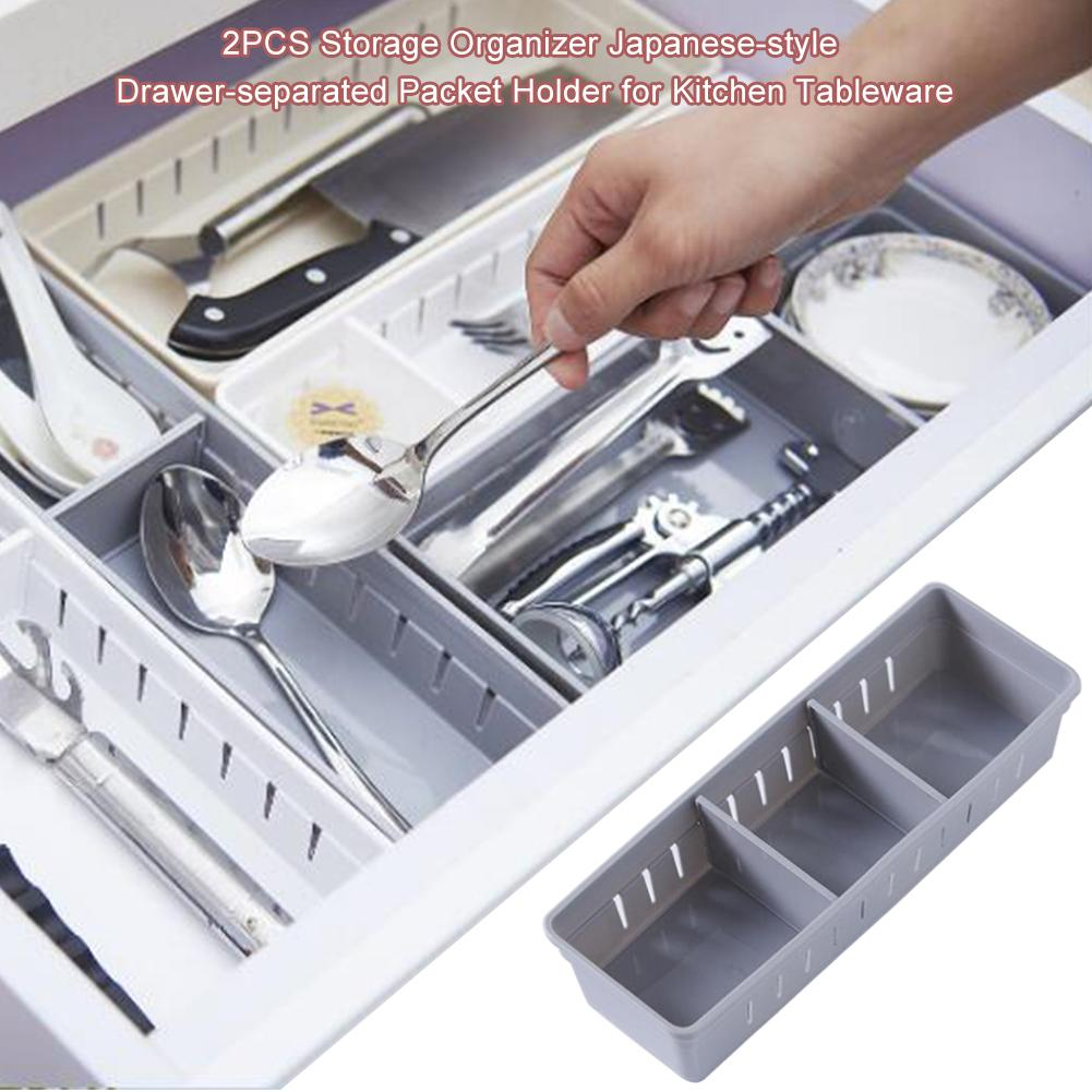 Kitchen Bathroom underwear Drawer Organizer Tray Spoon Knife Fork Chopstick Cutlery Separation Finishing Storage Box Holder Rack in Bottles Jars Boxes from Home Garden