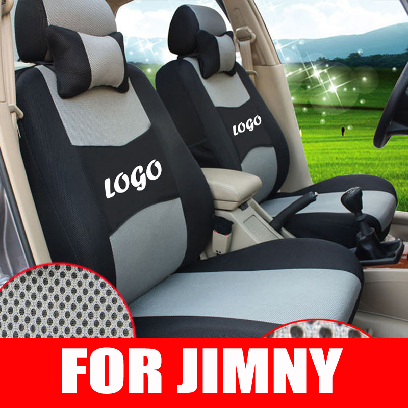 Custom seat covers set for suzuki jimny car parts accessories sandwich fabric car seat cover protector decorative cushion covers