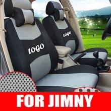Пользовательские Чехлы набор для Suzuki Jimny деталей автомобиля аксессуары сэндвич ткань сиденья протектор декоративные наволочки