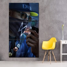 3 Pieces/Set Top-Rated Canvas HD Print Game Watch Dogs 2 Modular Pictures Modern Wall Art Home Decorative Painting Artwork