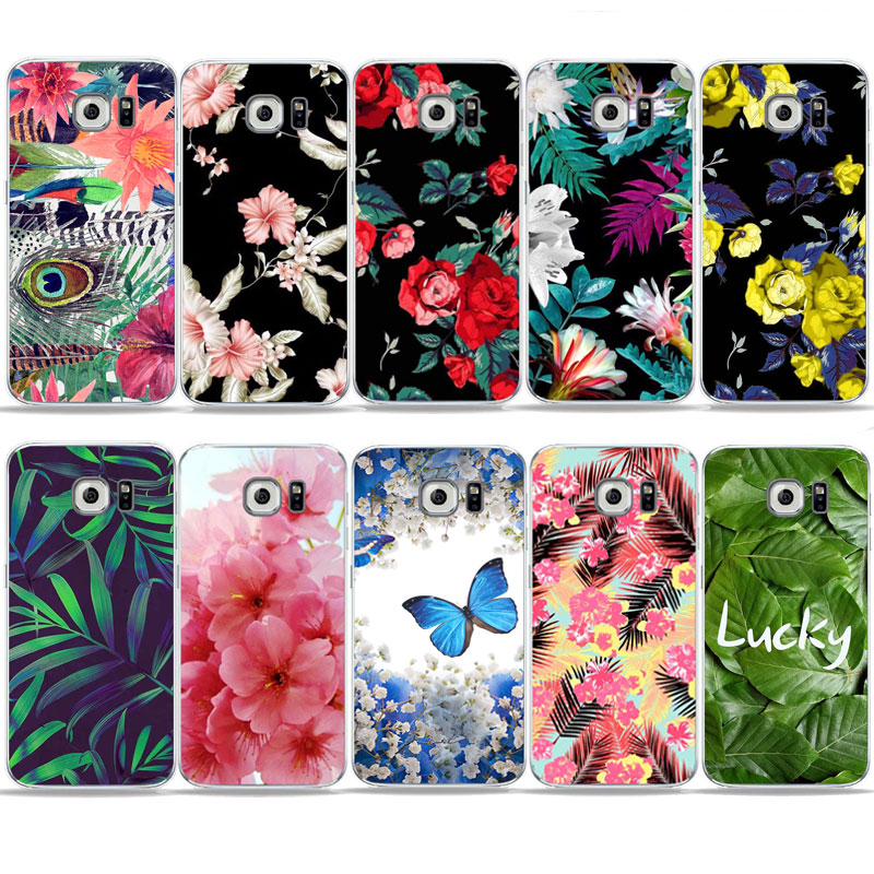 Vintag Floral Cute rose butterfly leaf Plant art Phone Case For SamSung S6 S7 edge A6 2018 J1 A3 A5 A7 S8 S9 Plus Soft TPU Cover in Half wrapped Cases from Cellphones Telecommunications