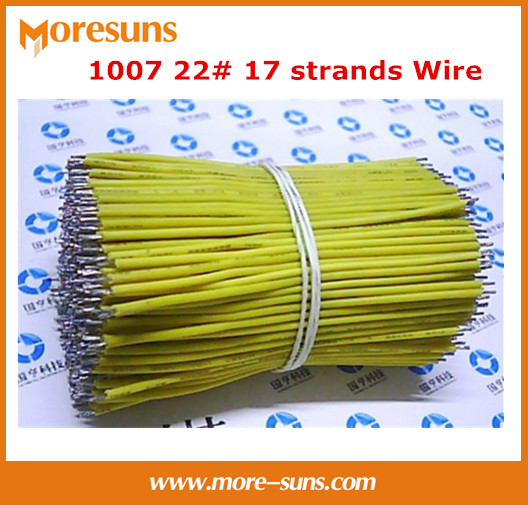 Free Ship 100pcs/lot 200MM Electronic Wire Harness Tin Plated Copper Wire 1007 22# 17 Strands Wiring Harness