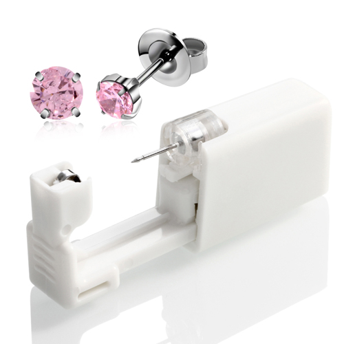 4mm Silver Pink