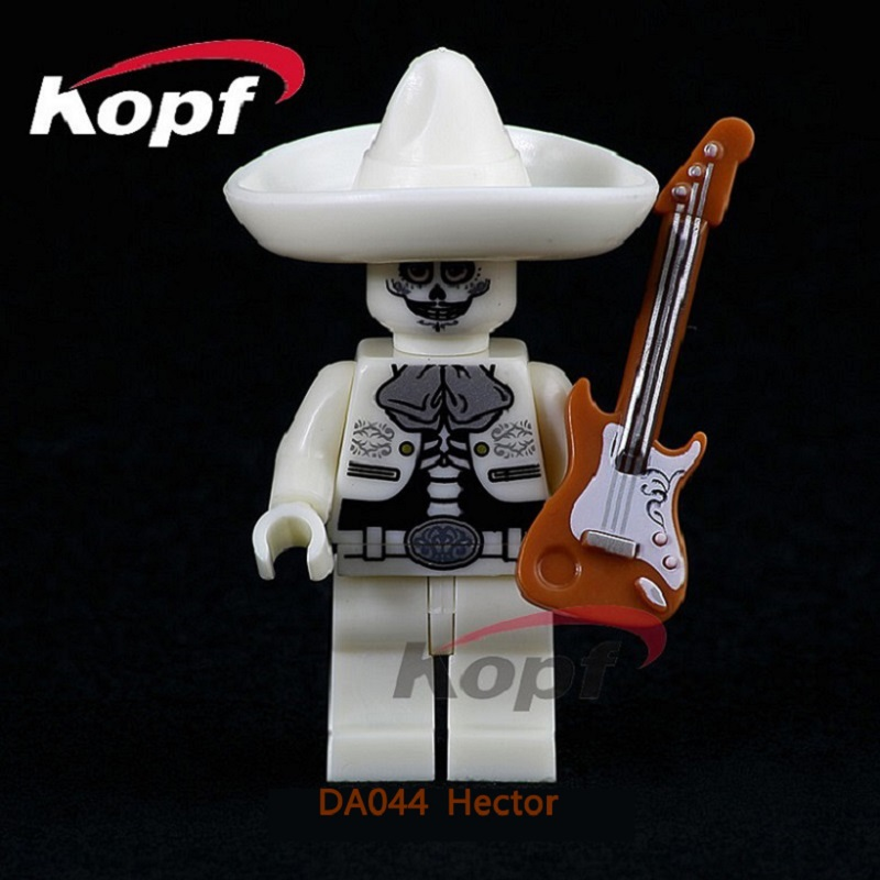 DA044 Single Sale Building Blocks The Day Of The Dead Coco Movie Hector Miguel Rivera Bricks Education For Children Gift Toys single sale myth unicorn toys lord of the rings hobbit horse nazgul with robe bricks building blocks children gift toys x0158