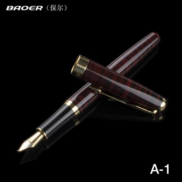 Baoer 388 Calligraphy Pen High End Office Supplies School Original Metal  Fountain Pen Gifts Decor Executive