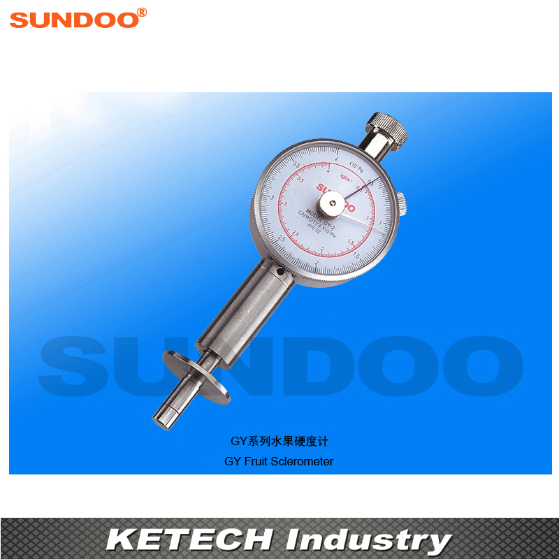 Sundoo GY-2 Fruit Shore Durometer Sclerometer for Apples, Pears, Strawberries and Grapes etc. common hard rubber meter shore d hardness tester with single pointer analog sclerometer lx d 1 shore durometer gauge