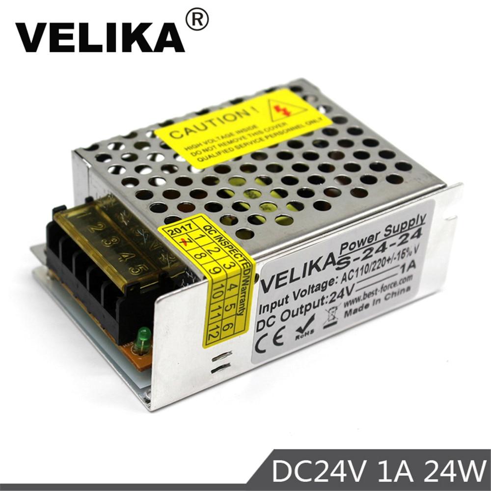 Tek çıkış anahtarı güç kaynağı ledi sürücü DC24V 1A 24W güç kaynakları Led şerit kontrol anahtarı ekran lambası 3D baskı CNC