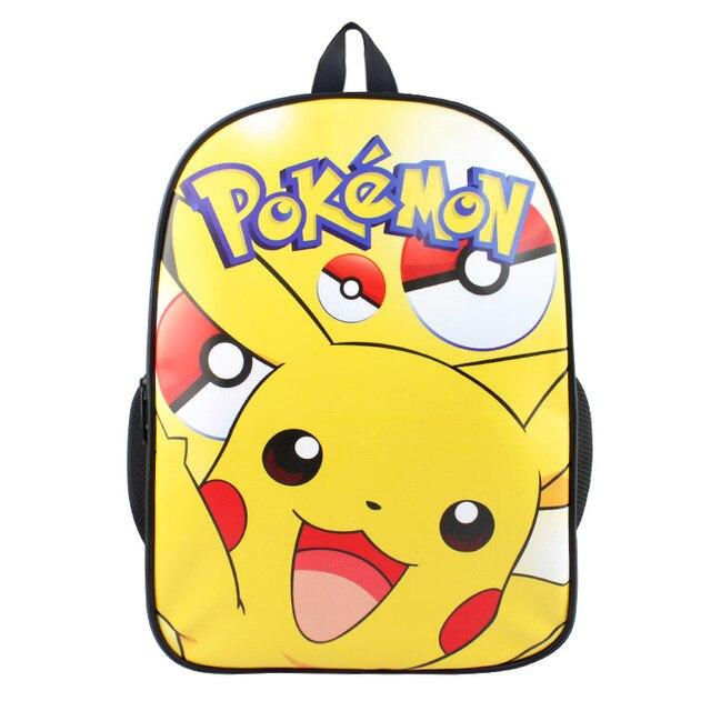 2651083c844aa2 15 pollice anime pokemon pikachu zaino per adolescenti ragazzi ragazze borse  da scuola borsa da viaggio