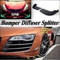 Car Splitter Diffuser Bumper Canard Lip For Audi R8 Tuning Body Kit / Front Deflector Car Fin Chin Reduce Body Tune Look