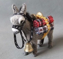 simulation gray donkey 11*10CM hard model,polyethylene&fur donkey toy home decoration Xmas gift c250 цена