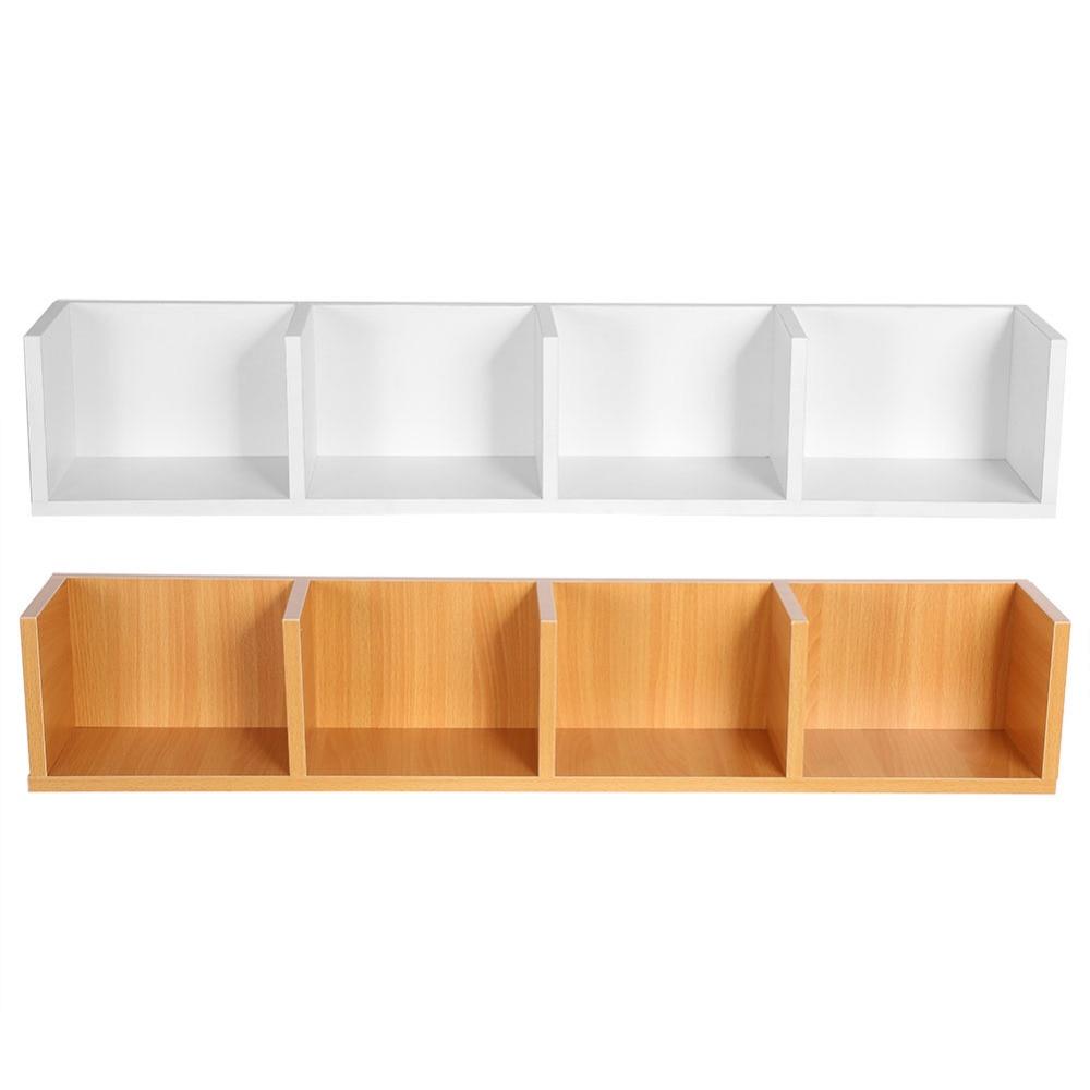 4 case modern wall mount display shelf cd organizer wooden unit storage shelf center rack in. Black Bedroom Furniture Sets. Home Design Ideas