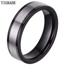 Men Wedding Band Tungsten Ring Fashion Jewelry Black and Silver Size 4-12 Free Shipping