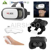 Google Cardboard 3D Movie Glasses VR BOX II 2.0 Version Virtual Reality 3D Glasses+Bluetooth Remote Controller