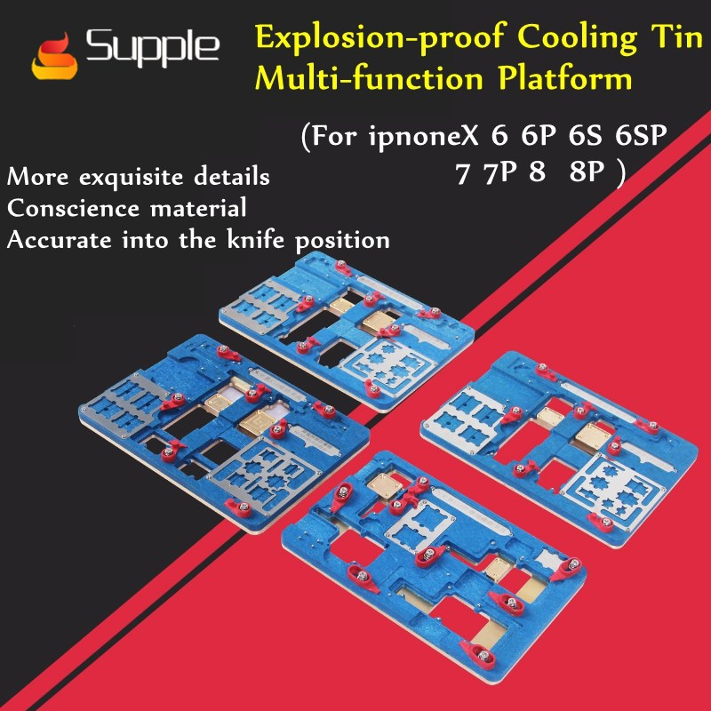 Supple Explosion-proof Cooling Tin Multi-function platform welding IC chip for iphone7 motherboard dedicated CPU heating station wj white iphone7 47inch