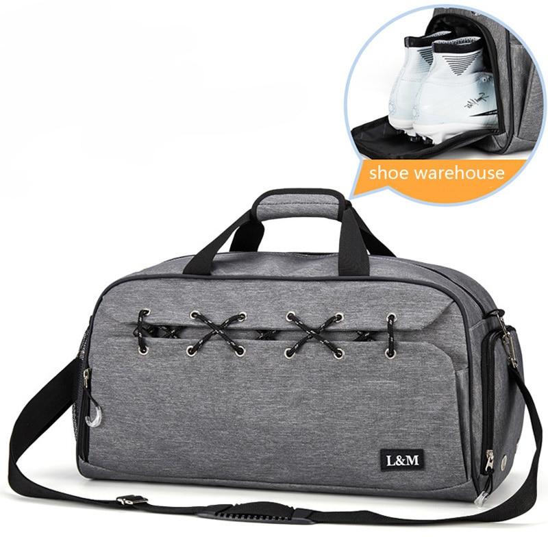 Sport Bag for Fitness Men Training Gym Bag Women Shoulder Handbag Yoga Shoes Bags Travel Dry