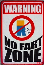 1 pc Fart zone warning plaques Tin Plate Sign wall bar man cave Decoration Poster metal vintage retro shabby chic decor garage