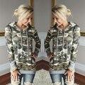 Novo Outono Inverno Hoodies Camuflagem Femme Exército Moda Pullovers Camisolas Longas Soltas Moletons Beyonce Hera Parque CC8145