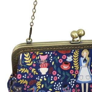 Image 4 - Alice in Wonderland Kadınlar için Crossbody Çanta Çanta Moda Karikatür Bayan Zincir Parti omuzdan askili çanta postacı çantası