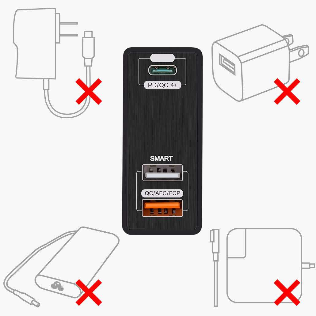 3 Port Usb Type C Charger 75w 5v 20v Power Delivery Pd Qc 4 Pa 12 Supply Schematic Schema Circuit Dell Pa12 19v Notebook Is The New Future Proof Connection Standard Delivering Faster Speeds More Efficient Low Profile Fully Reversible And User Friendly