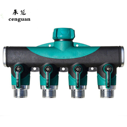 2017 New Garden Hose Pipe Splitter Plastic Drip 3/4'' Irrigation Water Connector Agricultural 4 Way Tap Connectors