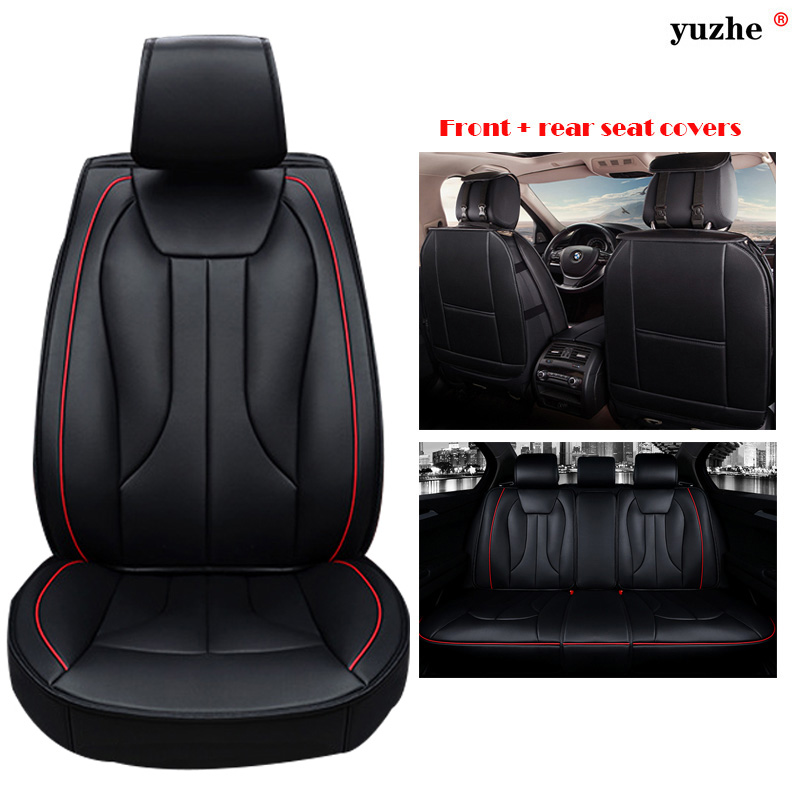 yuzhe universal leather car seat cover for haval h1 h2 h3 h5 h6 h9 seat covers car accessories styling black red blue cushionin automobiles seat covers