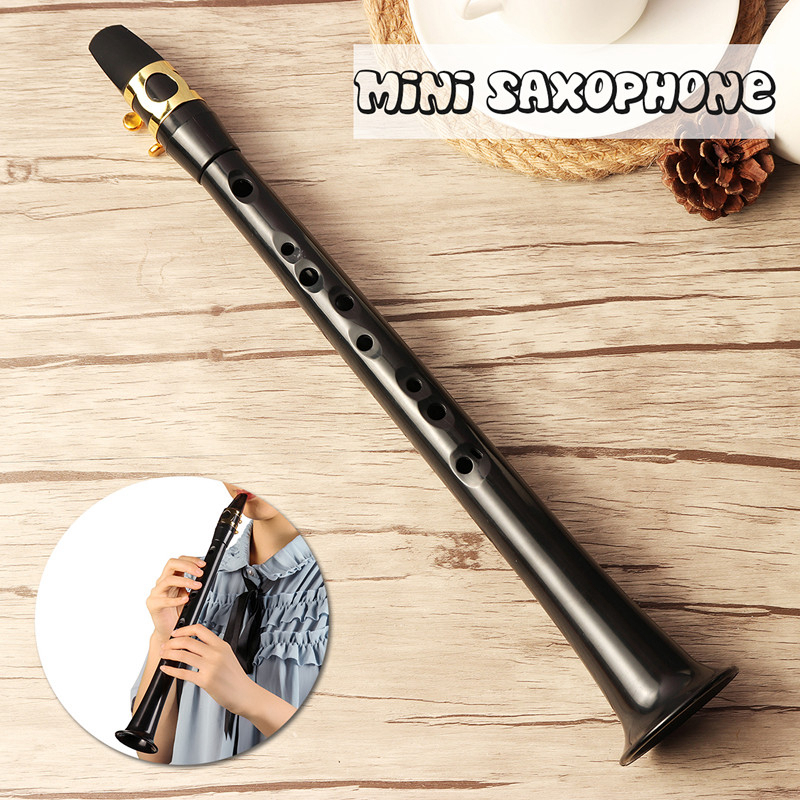 Black Little Mini Sax Portable C Key Saxophone ABS Lightweight Sax Musical Instruments With Carrying Bag For Begginer