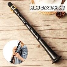 Черный маленький мини саксофон портативный C Ключ саксофон ABS легкий саксофон музыкальные инструменты с сумкой для переноски для нищий
