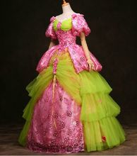 100%real luxury venice carnival gown beading pink sequins queen Medieval Renaissance Gown queen Dress Victorian Belle ball cos