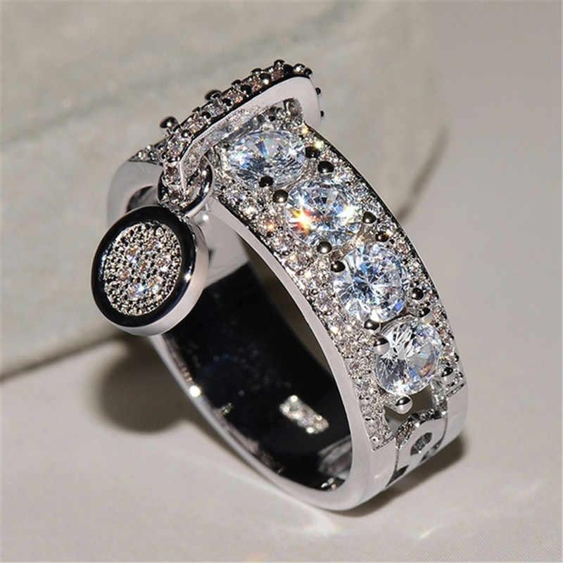 אופנה טבעות לנשים חדש ריינסטון טבעת עדינה עם אבן חמוד נשי טבעת תכשיטי עבור החבר הכי טוב