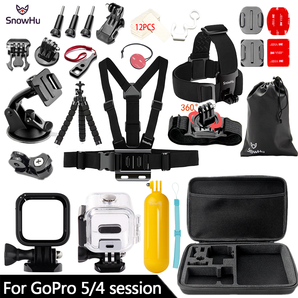SnowHu For Gopro Hero Action camera accessories Survival tube Waterproof shell For Go pro 6 5