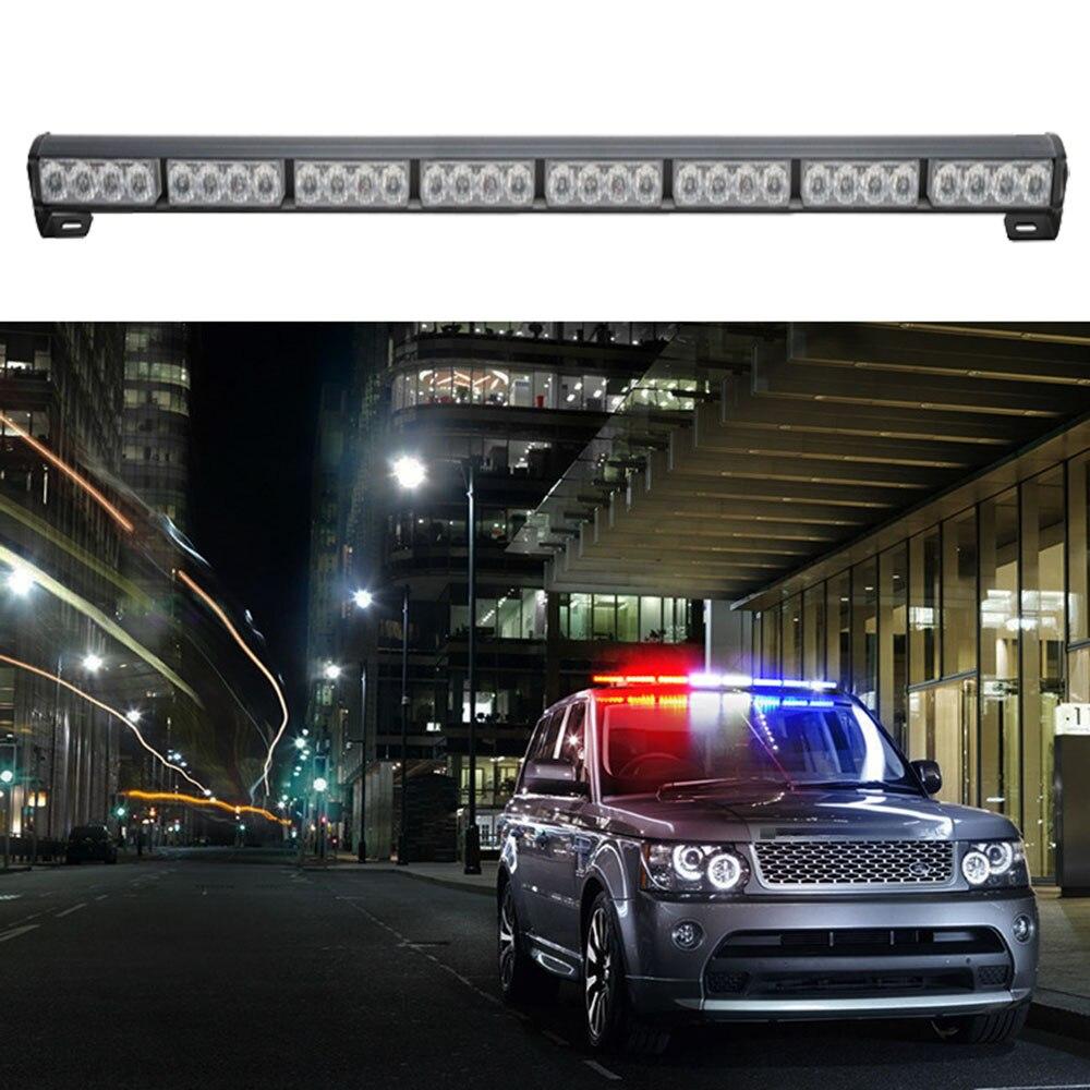 """12v 35"""" car led strobe work light bar police car flash signal"""