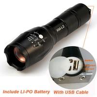 2017 Mais Novo USB X900 Lanterna 8000 Lumens Lanterna LED CREE XM-L2 Tocha Com Zoom Flash de Luz Da Lâmpada de Iluminação Para O Carregador USB
