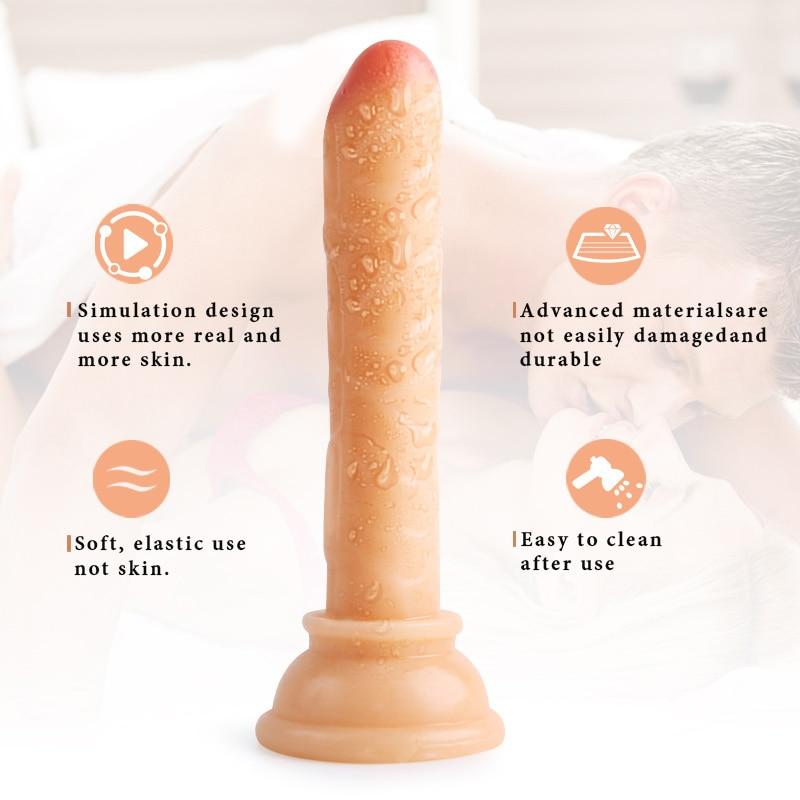 Realistic Dildo Clitoris Stimulator Strap on dildo Masturbation Bullet Vibrator Vaginal Massager Suction Cup sex toys for Women in Vibrators from Beauty Health