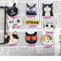 Acrílico Emblemas Broches Para Roupas Gato Dos Desenhos Animados óculos de Sol Flor Pinos Mulheres Homens Animal Broche Jóias Acessórios Sapatos Pacote