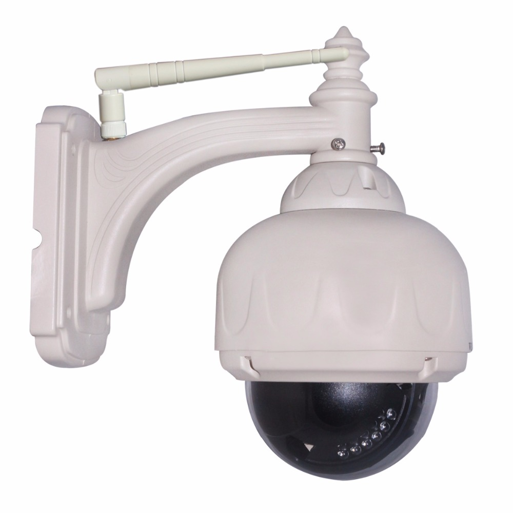 ФОТО Onvif P2P WiFi 720P HD 1/4 CMOS 1.0 Megapixel 3x Digital Zoom Pan/Tilt PTZ Network Wireless IP Camera Dome Outside Night Vision