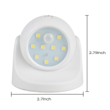 9 LED Motion Sensor Night Light 360 Degree Rotation Portable Night Light Auto IR Infrared Luminary Lamp Children Lamp LED