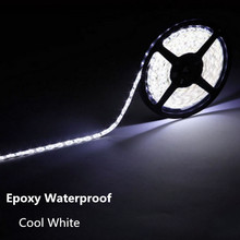 Top Quanlity No Waterproof / IP65 Waterproof  5M 3528 LED Strip Light 300 LED DC 12V Cool White Blue Red Green LED Tape ribbon