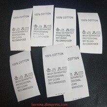 Новинка 25 мм 1000/рулон этикетка для ухода за одеждой, бирка для одежды, стирающаяся этикетка с логотипом и этикеткой для одежды, печатная этикетка