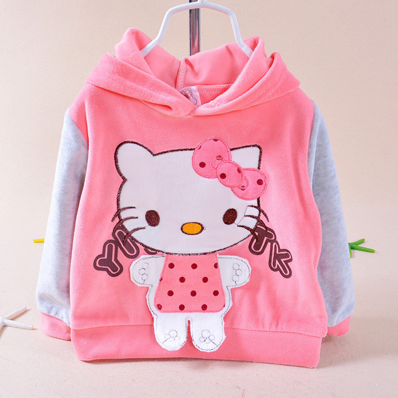 Hello Kitty hooded clothing for girls