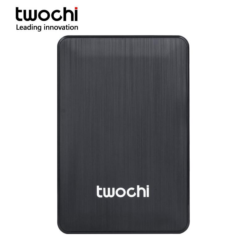 TWOCHI 2.5 Portable External Hard Drive USB3.0 120GB 160GB 250GB 320GB 500GB 1TB 2TB Storage HDD External HD Disk for PC/Mac