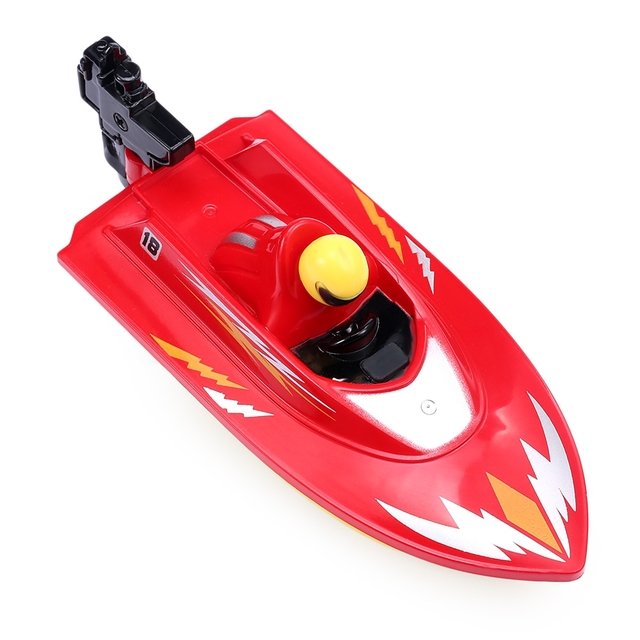 New RC Boat Outdoor Children Toys Radio Control RC 2 Channels Waterproof Mini Electric Boats Speed Boat Airship HUANQI 958A