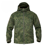 Russian Woodland Digital Camouflage Men's Jackets Outdoor Waterproof Softshell Hooded Tactical Jacket