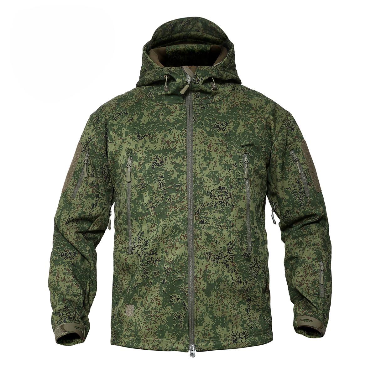 Veste de Camouflage numérique russe pour hommes veste tactique à capuche Softshell imperméable à l'eau en plein air
