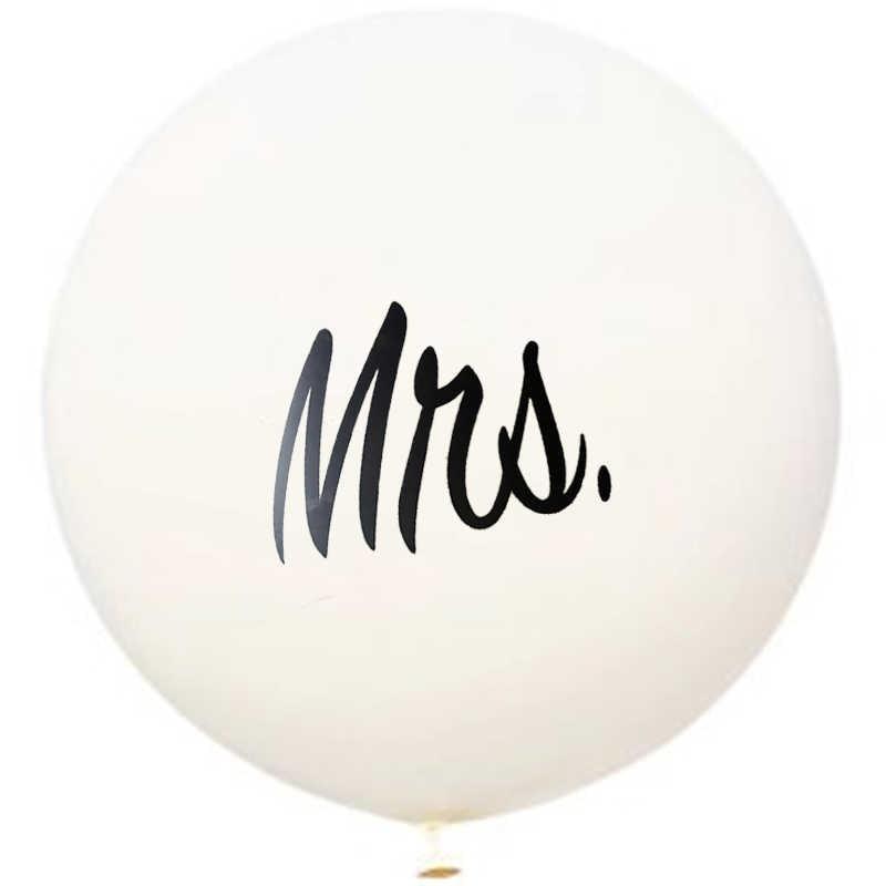 1 Pc 36 Thicken Air Balloons Latex White Mr Mrs Printed Ballonnen Bruiloft Happy Valentine S Day Event Helium Mariage Globos
