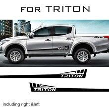 2pc WARRIOR graphic Vinyl sticker side and rear tailgate decal for mitsubishi l200 triton