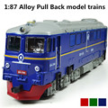 Alloy model trains, 1: 87 alloy pull back train, classic children's gift, Diecasts train & Toy Vehicles, free shipping