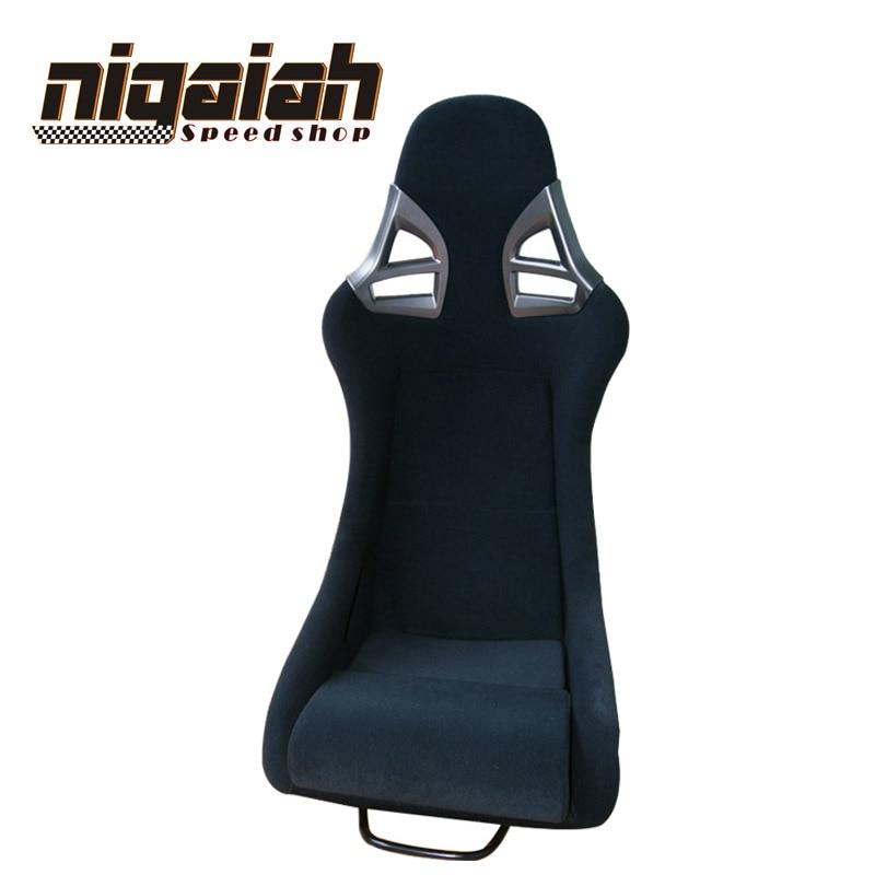 2 PCS/LOT siège baquet de course de dérive noir en fibre de verre rouge/bleu/noir/jaune siège de voiture de course de Sport siège de dérive