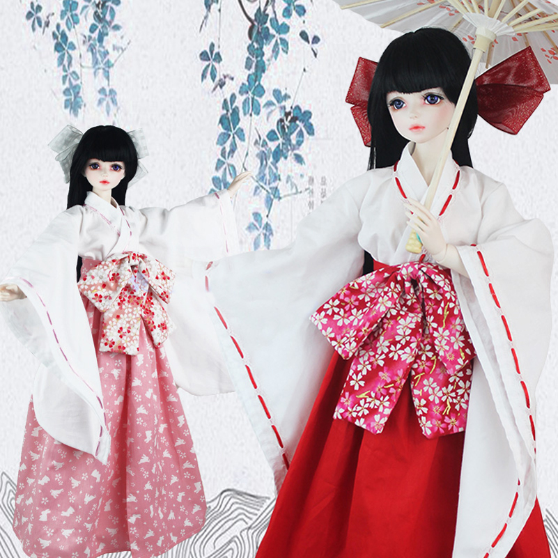 1/3 1/4 Inuyasha Kimono BJD Doll Clothes Anime Costume Clothes Clothing Dress Fashion 1/3 1/4 Doll Accessories Toys For Girls 1 3 1 4 uncle bjd costume clothes ancient costume